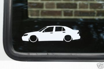2x LOW Saab 9-5 Tid, 2.3t, aero,v6 outline stickers (1)